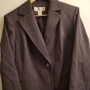 🧥 Jones New York 14W Gray Business Blazer